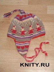 Детская шапка с гномиками