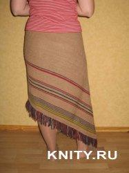 Вязание ассиметричной юбки