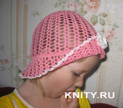 Вязание детской летней шапочки крючком