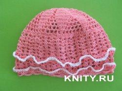 Вязание крючком летней детской шапки