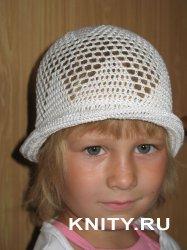 Летняя детская шляпка крючком