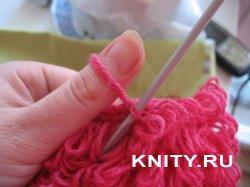 Вязание вытянутых петель крючком