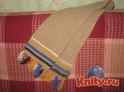Вязание шарфа для малыша
