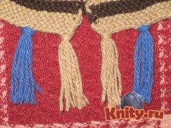 Как сделать кисти на шарфе