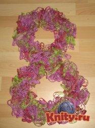 Мастер класс по вязанию шарфа из ленточной пряжи