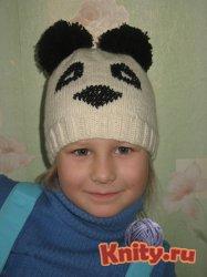 Шапка панда