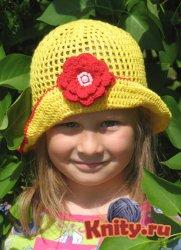 Вязание летней шляпки для девочки крючком