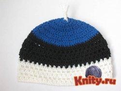 Вязание шапки для мальчика крючком