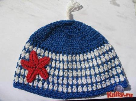 Вязание летней шапки для мальчика крючком