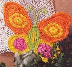 Вязаные бабочки крючком