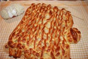 Вязаный пирог
