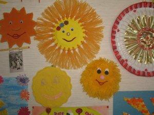 Вязаные солнышки с выставки