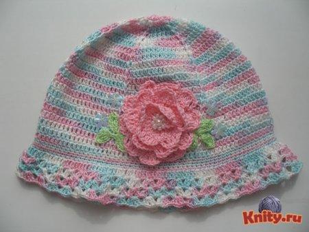 Вязание шапки для девочки крючком